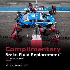Complimentary Brake fluid replacement
